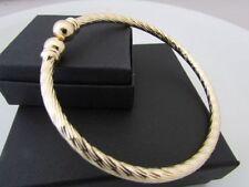 "Bangle 9 - 9.49"" Precious Metal Bracelets without Stones"