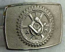 Pratt & Whitney Chrome I A of M Machinists Aerospace Workers Union Belt Buckle