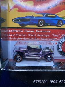 Hot Wheels Original 16 Replica 1968 Package Hot Heap 1064/2500 HTF