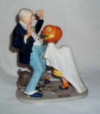 "The 12 Norman Rockwell Porcelain Figurines ""Trick or Treat"" Sep 1980"