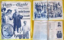 Paris qui Chante - 1909 - N°325 - Olympia. Paris Singeries - Oh! Oh! Antonio.