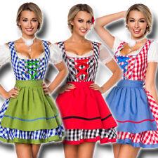70003 Karo Dirndl Schürze XS-3XL Trachtenkleid Mini Kleid Oktoberfest Tracht
