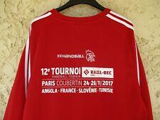 Maillot 12ème Tournoir handball féminin PARIS COUBERTIN 2017 rouge Adidas shirt