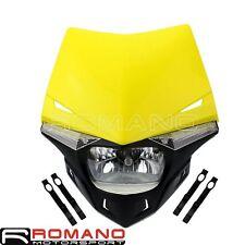 Universal Dual Sport Motocross Dirtbike LED Side Light Headlight Fairing H4 Bulb