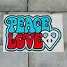 Peace Love Hippy VW DUB Vinyl Sticker Decal Window Car Van MacBook