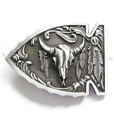 Arrowhead Bull Native American Western Metal Fashion Belt Buckle