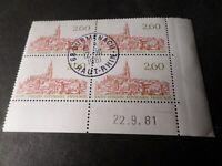FRANCE 1981, timbre 2162 COIN DATE', SAINT EMILION, oblitéré, VF STAMPS