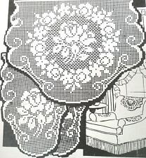 3311 Vintage FILET SUMMER ROSES CHAIR SET Pattern to Crochet (Reproduction)