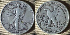 Liberty Walking Half Dollar : 1935 VG-F IRUS657