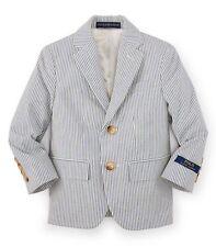 Boy Polo Ralph Lauren Striped Cotton Jacket Blazer Size US 16 NEW RRP £260