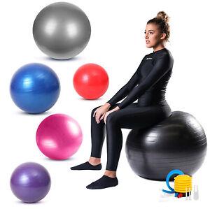 Exercise Gym Ball Swiss Pilates Yoga Core Training Birthing Anti-Burst with Pump