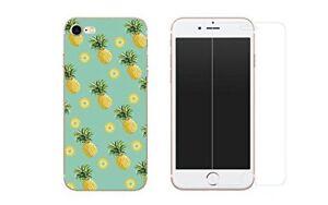 iPhone 8, iPhone 7 - Combo 1 Coque Gel souple + 1 film en verre trempé - Ananas