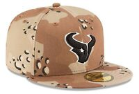 Houston Texans Ball Cap Hat~59Fifty 5950 Basic Camo Pop~Fitted Size 7~Ships FREE