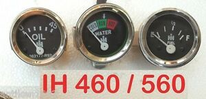 IH Farmall 460, 560 Gas / Diesel Temperature  Oil Pressure  Fuel Gauge