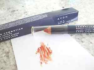 AVON Color Commotion Marble Lip Color LOT OF (5) GOLDEN RED New FREE SHIPPING!