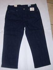 NEW Levi Strauss Demi Curve mid rise Capri pants jeans shorts dark blue 4 8 10