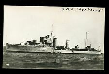 Royal Navy HMS Foxhound (H69) vintage RP PPC