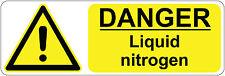 300 x 100 mm   DANGER- LIQUID NITROGEN  health  & safety signs/stickers