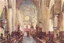 OXFORD. Interior of the Cathedral of Christ Church 1903 old antique print