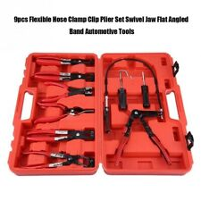 9PC Steel Wire Long Reach Hose Clamp Pliers Set Hose Remover Plier Auto Tool Kit