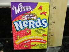 Wonka Nerds Candy Double Dipped lemonade wild cherry apple watermelon 1.65 oz.