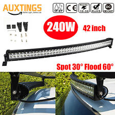 240W 40 inch LED Light Bar Combo Beam Curved Work Off road Truck Boat SUV ATV 42