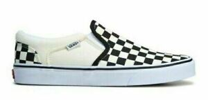 Vans Asher Slip On Women's Skate Shoes Sneakers Casual Canvas