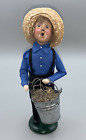 Byers Choice 1996  Exclusive Tour Amish Boy w/ Galvanized Bucket Dated /Numbered