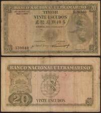 TIMOR 20 ESCUDOS 24/10/1967 BANCO NACIONAL ULTRAMARINO