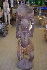 Aibom Meri Statue Handcarved Coal Carrier Japandai Oceanic Art Papua Guinea 32A1