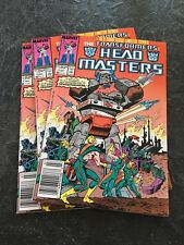 Transformers Comic Book Head Masters #1 1987 Lot Of 3
