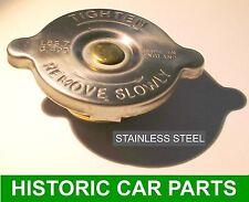 Acero Inoxidable Tapa Del Radiador Para Chevrolet Corvette 1954-59 reemplazar 7lb 0.5 Bar