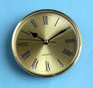 125mm GOLD BEZEL QUARTZ CLOCK  insert movement gold roman dial