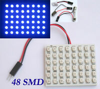Blue 48 SMD LED Light Panel T10 Festoon Ba9s Dome 12V DC