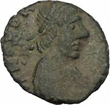HONORIUS 410AD Rome Victory Authentic Ancient Roman Coin RARE AE4 Type i45191