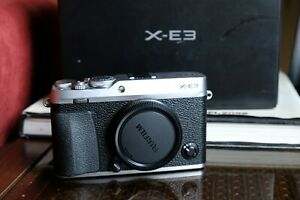 Fujifilm X-E3 Mirrorless Digital Camera Silver Body Only