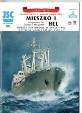 Card Model Kit – Cargo ships Mieszko and Hel