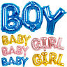 BABY BOY GIRL Foil Letter Balloon Baby Shower Gender Reveal Party Decorations