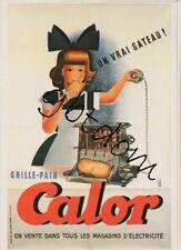 CP repro affiche Grille pain CALOR - Derouet Baudouin Forney toast fillette
