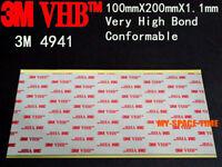 3M VHB #4941 Double-sided Acrylic Foam Tape Automotive 100mm X 200mm
