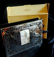 "LENOX Silver Plate ""OUR WEDDING"" Photo Album 4x6 - 80 Photos Never Used in Box"