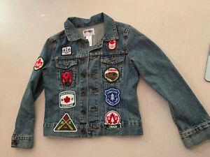 Hudson Bay HBC Team Canada Olympic Denim Jean Jacket Youth 10/12 2012