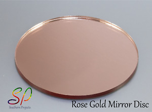 RoseGold Mirror Disc With or Without Holes DoubleSided Mirror RoseGold & Silver