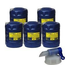 5x 20 Liter MANNOL LHM+ Fluid Hydraulik Öl Flüssigkeit DIN 51524.2 + Auslaufhahn
