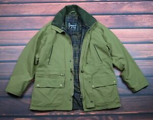 BARBOUR JACKET LIGHTWEIGHT FREEDOM M MEDIUM KHAKI GREEN TARTAN breathables