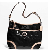 NWT COACH Peyton Embossed Patent Leather Convertible Hobo Crossbody Bag F20022
