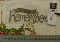 CHIPBOARD Wordlets MOMENTS to REMEMBER - 1 Design Choice Scrap FX W2