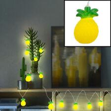 LED Ananas Guirlande lumineuse fête déco éclairage motif lampes vert jaune