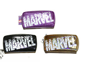 Marvel Japan Sparkly Girls Zipper Pencil case make up case Pouch