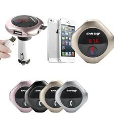 Wireless Bluetooth FM Transmitter w/Display&Dual USB for iPhone 7 Moto Z X Force